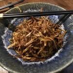 真不同 飲茶倶楽部 - ロウ麺(焦がし葱の和えそば)