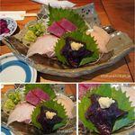 119377659 - 刺身盛りとライス。桂城(和歌山県那智勝浦)食彩品館.jp撮影