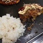 千房 - お好み+焼き飯①