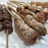 縁家 - 料理写真:左から、ハツ、つくね、ねぎま、ささみ