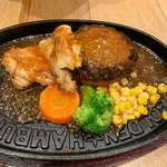 DINER&CAFE The GOLDEN☆HAMBURG - チキンコンボ 粗挽きハンバーグ 1620円税別