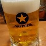 日の出らーめん - 男は黙ってサッポロビール