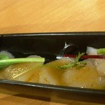 みっきー食堂 - ホタテのカルパッチョ 280円