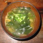 やきとり大吉 - 2019年の「天然鳴門ワカメの味噌汁」275円