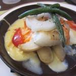 ベーカリーレストラン サンマルク - 白身魚と野菜のオランディーズソース(\1,140-)