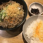 Menyakyouto - かけ蕎麦 ( ´θ`) 昆布佃煮 TKG