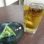 柳下酒店 - 生ビールとわさび豆