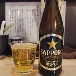 魂麺  - 先ずはビールから