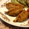 鮮菜 - 料理写真:②鮮次入りカレー餃子・三個・330円