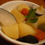 プチ・グリーン - チーズフォンデュの野菜