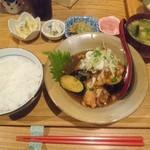 もがめ食堂 - 鶏と茄子のおろし煮定食 ¥1,100