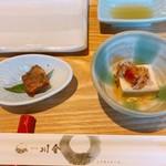 鮎の庄 - 小鉢二品 鮎の土佐煮&鮎うるか豆腐