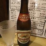 ホルモン焼肉 肉の大山 - クラシックラガー中瓶 605円