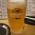 ホルモン焼肉 肉の大山 - 生ビール 528円