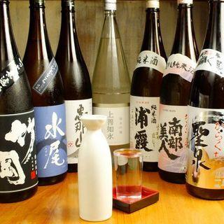 日本酒の豊富な品揃え!旨い魚には旨い酒♪
