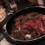 カフェアンドバー リシェス - 料理写真:すき焼き