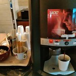 名水の里 - コーヒーはセルフで