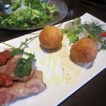 トラットリア リトル ターン - 前菜3種 2人分 ¥1260