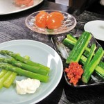 安兵衛 - アスパラ+もろきゅう+トマト