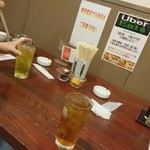 天龍 - ウーロンハイ、緑茶ハイ各350円