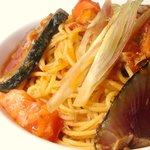 ボラーレ - 3月のランチパスタ1品。初鰹とフレッシュトマトのスパゲッティ~みょうがの香り~