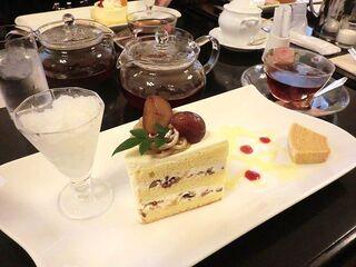 五感 北浜本館 - 和栗のショートケーキ&本日のフレーバーティー