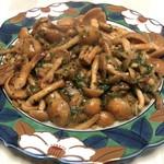自然薯の館 - ナメコはバジルとソテーしました。