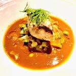ビストロハマイフ - 白身魚のブイヤベース。キダイ(?)のポワレをブイヤベースに乗せた料理