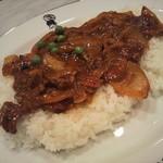 インデアンカレー - 【再訪】お肉が絶妙に焦げており、香ばしい
