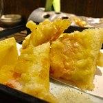 一歩一歩 - 山芋と明太子の湯葉包み揚げ 980円
