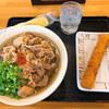 キリン - 料理写真:肉そば(大)&海老カツ棒