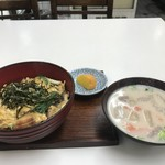 みなと食堂 - 穴子丼と粕汁をいただきました(2019.11.11)
