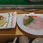 浅草すし若 - 「カワハギ刺身」3,200円