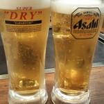 浅草もんじゃお好み焼き ぽんちゃん - 生ビール