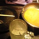 ラマイ - ライス、具の大方、ラマッシーを完食 スープはご勘弁を…(ッ_ _)ッ