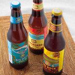 ロコズキッチン - コナビール ※ハワイの地ビール。通年の3銘柄に加え、季節限定フレーバーもあります