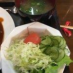 CAPTOR&クローバー - サラダ&味噌汁