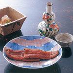 竹葉亭 - 蒲焼網代皿