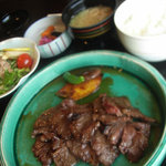 日本料理 笛吹川 - 牛肉網焼き膳