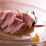 高野麦酒店takanoya - 土佐鴨ロース煮_九条ネギを背負って