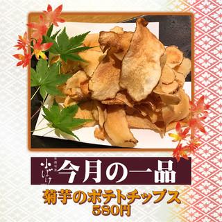 【淀屋橋店・今月の一品】~菊芋のポテトチップス~