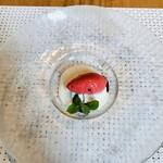 ミクニ マルノウチ - デザート/木苺のソルベとフロマージュ