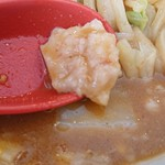 手打ち極太麺 ジョニーの味噌 - そう云えば背脂もたっぷり。