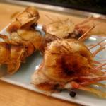 浅草 寿司清 - 肴(ボタン海老 頭の炙り)