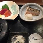 旬彩庵 - 刺身と焼き魚の定食