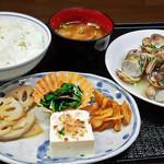 花水木 - あさり酒蒸し定食 2019/11/07