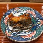 鮨旬美西川 - 絶品の車海老の頭!まさに炭火焼で焼き揚げた逸品!