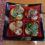 讃岐たこ焼き たこず - 料理写真:クワトロタコヤッキ ドレガドレダカワカリマセン