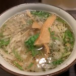めん屋 桔梗  - 塩つけ麺 スープ