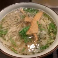 めん屋 桔梗 -塩つけ麺 スープ